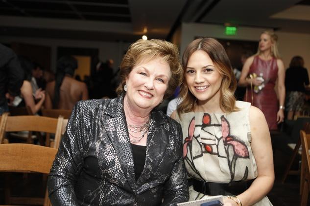 Linda Knapp, left, and Caroline Knapp at the David Peck runway show September 2014