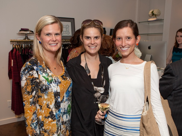 Cabell Wood, from left, Whitney Crenshaw and Alixe Ryan at the Julie Rhodes Fashion & Home Houston opening party October 2013