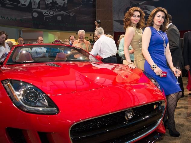 7 Jaguar F-Type Launch Houston May 2013 Mahzad Mohajer, Parissa Mohajer