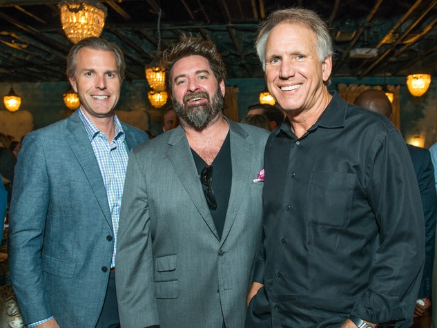 15 Andrew Rentz, from left, Tod Eason and Lonnie Schiller at the CultureMap Summer Social July 2014