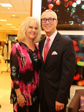 9 Ayres and Chris Bell at Saks' Key to the Cure October 2013