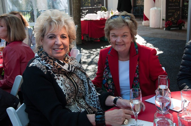 9 Margaret Lanier, left, and Susie Glasscock at the ROCO Yuletide Concert at Bayou Bend December 2014