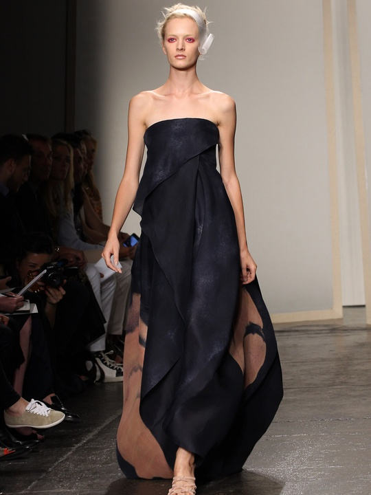 Clifford, Fashion Week spring 2013, Monday, Sept. 10, 2012, Donna Karan, black strapless gown