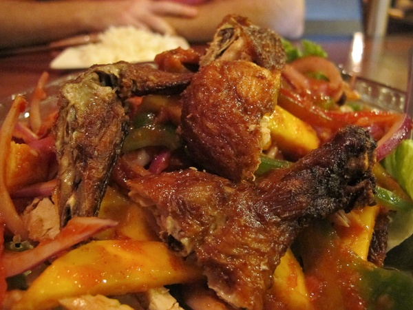 Ruthie, fried chicken, June 2012, Banana Leaf
