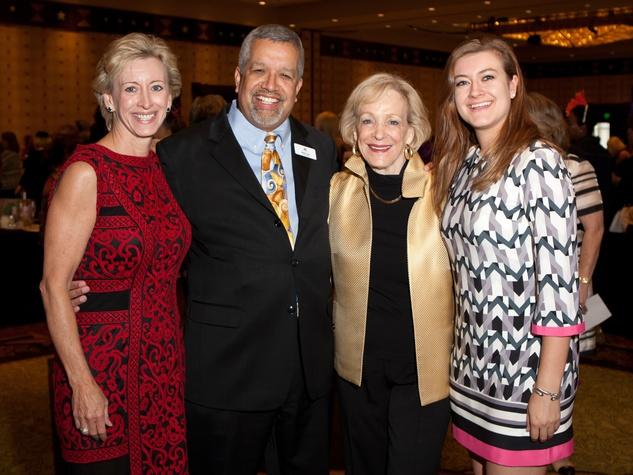 PlayBingo Ladies Luncheon Vicki Roberts, Michael Torres, Maxine Roberts, Abby Argo October 2015