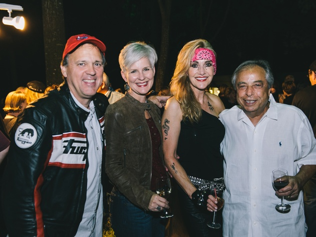 16 Paul West, from left, Robin Ballew, Jana Arnoldy and Sam Siam at the Bayou Preservation Association's Born on the Bayou party October 2013