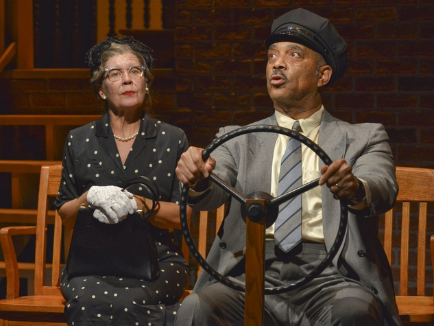 Annalee Jefferies and Hassan El-Amin in Dallas Theater Center's Driving Miss Daisy