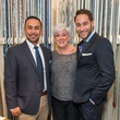 Aidan Garcia, from left, Nancy Weintraub and Michael Flores at the Decorative Center Houston Fall Market October 2014