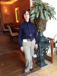 Server at Rosewood Mansion on Turtle Creek in new uniform