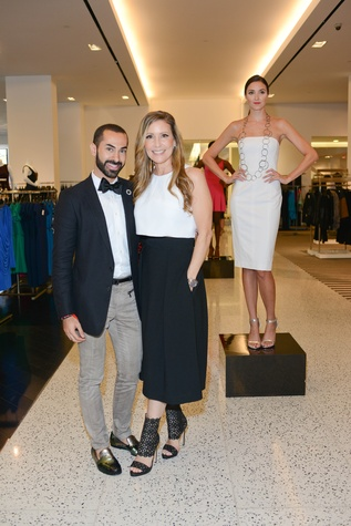 Fady Armanious and Designer Laurel Berman at the WOW Summer Soiree August 2014