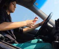 It Can Wait Houston's anti-texting campaign Bellaire winning video girl texting and driving