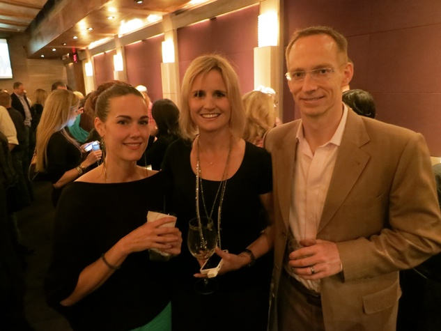 Josie Edwards, from left, Laura Carlock and David Carlock at the Rescued Pets Movement launch party November 2013