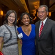 Anne Chao from left Kimberly Karol and Albert Chao at the Teach For America benefit dinner
