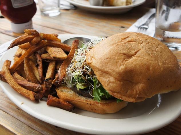 Tyler, veggie burgers, October 2012, Shepherd Park