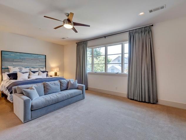 Master bedroom at 3417 Villanova in Dallas