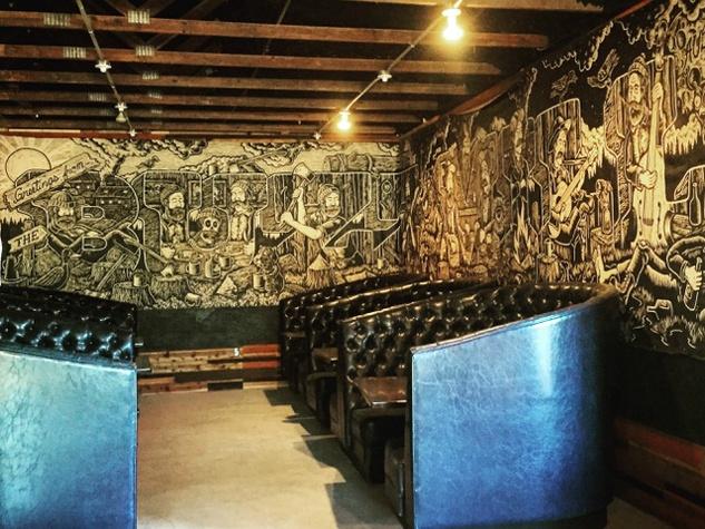 The Buzz Mill Homestead south interior art Chad Eaton