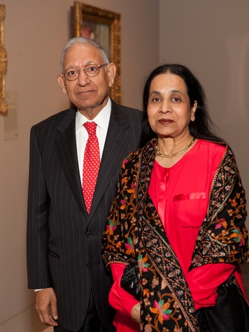 8 Durga and Sushila Agrawal at the MFAH Impressionism dinner December 2013