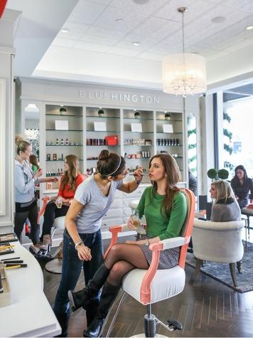 Blushington makeup studio in Dallas