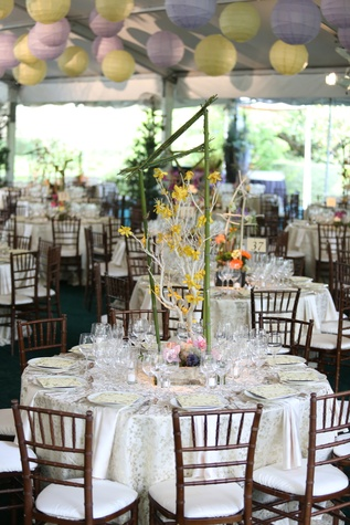 Bayou Bend Garden Party, April 2013, Centerpieces, table decorations, table settings