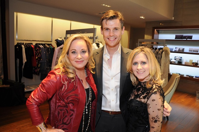 Theresa Bruno, Joel Cheatwood, Kim Giallanza at Elizabeth Anthony Generations of Glamour