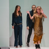Haute Hippie designer Trish Wescoat Pound at Fashion Houston Nov 2013