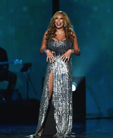 Wendy Williams in Cesar Galindo gown at Soul Train Awards in 2014