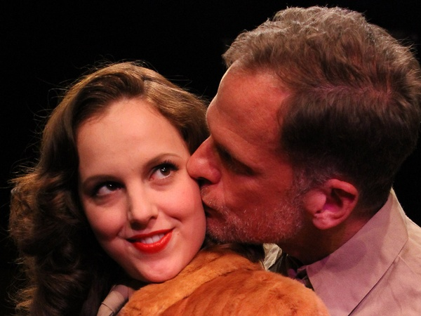 Nancy, Love and War, November 2012, Main Street Theater, Daphne Rutherford (Jacqui Grady) and Joe Rogers (Joe Kirkendall)