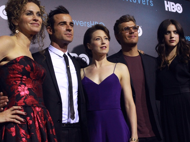 The Leftovers HBO Season 2 red carpet premiere Amy Brenneman Justin Theroux Carrie Coon Chris Zylka Margaret Qualley October 2015
