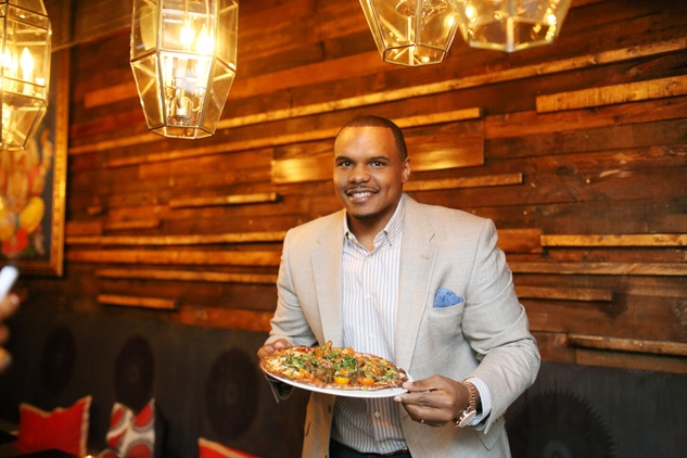 Chester Pitts at Ruggles Black Grand Opening October 2014