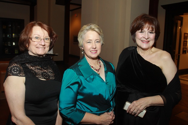 80 Kathy Hubbard, from left, Mayor Annise Parker and Cynthia Allshouse at the Baker Institute 20th Anniversary Gala November 2013