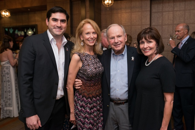 Jacques Rodrigue, from left, Susan Khron, Don Sanders and Laura Moore at the George Rodrigue Blue Dog dinner September 2014