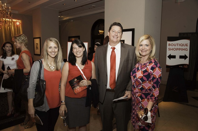 Stephanie Chitek, from left, Carly Kim, Marc Dupre and Elizabeth Dupre at the Go Red For Women luncheon May 2014