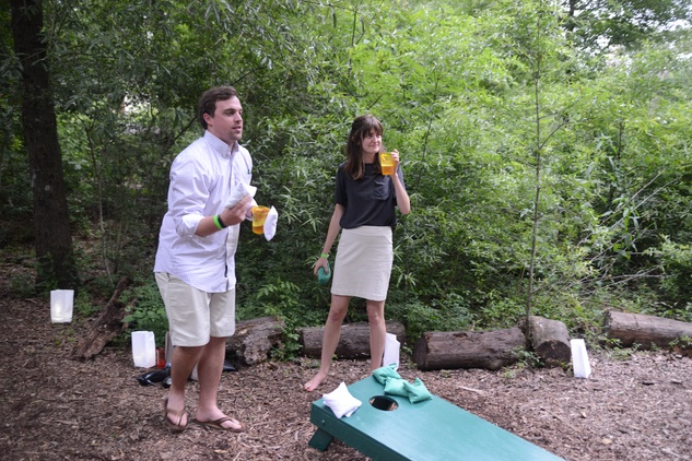 Houston Arboretum Evergreen party, May 2015, Geoff Moralda, Sara Arnett