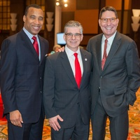News, Shelby, Red Cross Luncheon, Feb. 2015, Len cannon Steve Vetrano, Scott McClelland