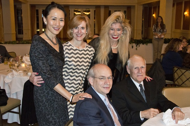 UH Law Arrival Awards, Y. Ping Sun, Caroline Baker Hurley, Sofia Adrogué  (Seated) David Leebron, Wayne Graham, March 2014