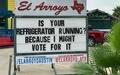 El Arroyo Austin restaurant sign political joke election 2016