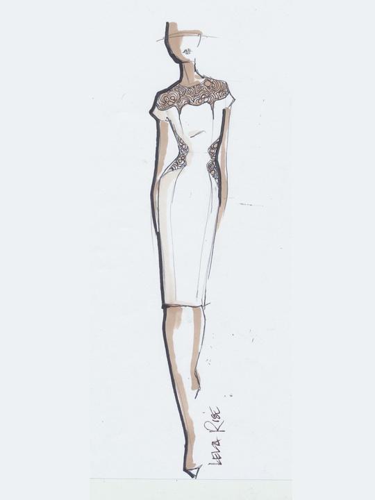 Fashion Week spring summer 2014 Lela Rose sketch