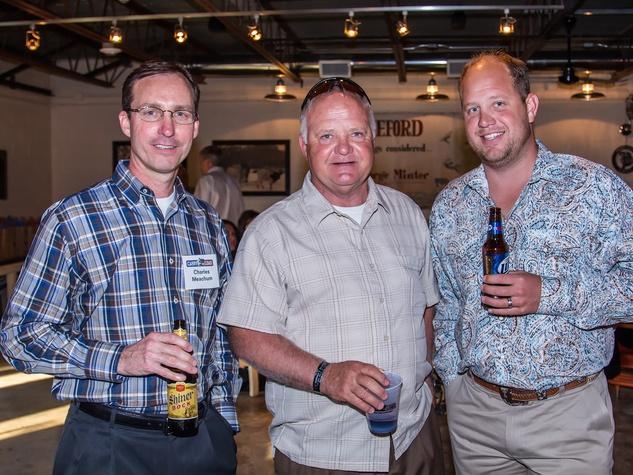 Charles Meachum, JJ Shubcda, Drew Shubcda at Carry The Load fundraiser dinner at Pecan Lodge