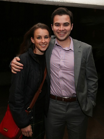 Megan McKellar and Gilbert Sawtelle at the Alley Young Professionals holiday party December 2013