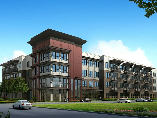 Pearl Woodlake apartments rendering Houston The Morgan Group December 2013 CROPPED