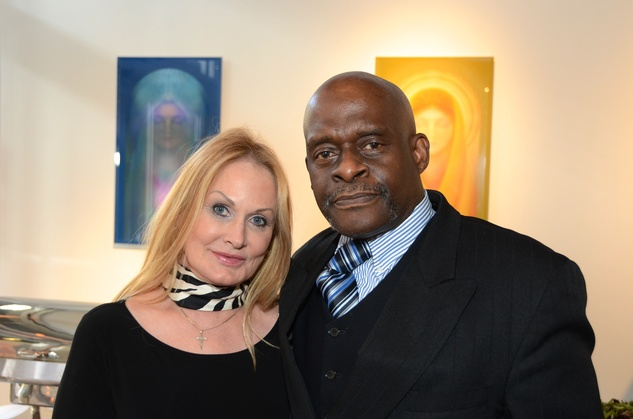 """Donna Valverde and David Winans Jr. at the Valvisions Foundation """"Cinema, Canvas & Cuisine"""" March 2015"""