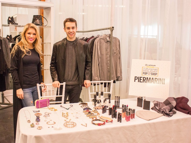 Brooke Nielson, John Piermarini at CultureMap Holiday Pop-up Shop 2014