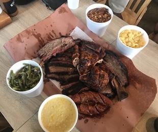 Killen's Barbecue meat tray Snake River Farms brisket