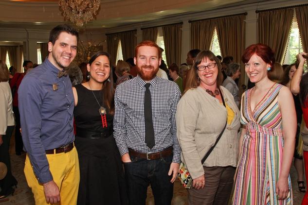 Center for Contemporary Craft luncheon May 2013 Robert Mullen, Tarina Frank, Jaydan Moore, Chanda Glendinning, Susannah Mira
