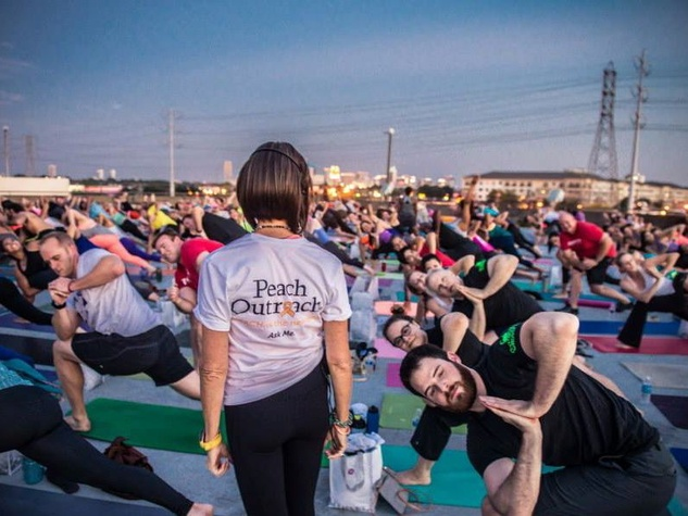 Peach Outreach rooftop yoga
