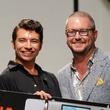 Alan Gonzalez of Alantude wins the Bernina Fashion Fund award at Fashion X Houston