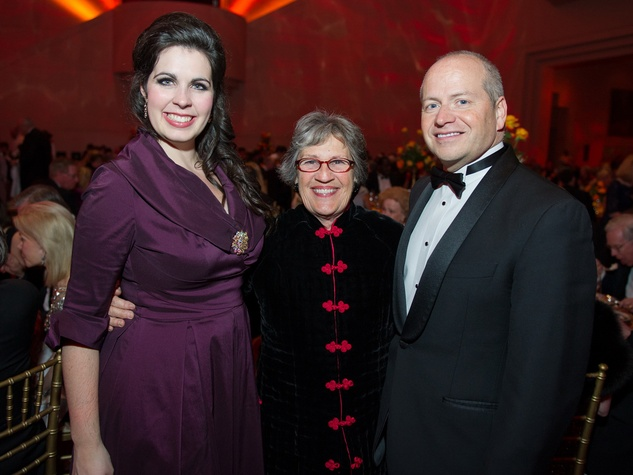 32 Amanda Woodbury, from left, Mariquita Masterson and Patrick Summers at HGO Concert of Arias February 2014