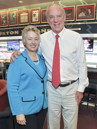 Texans Owners Suite, September 2012, Mayor Annise Parker, Bob McNair