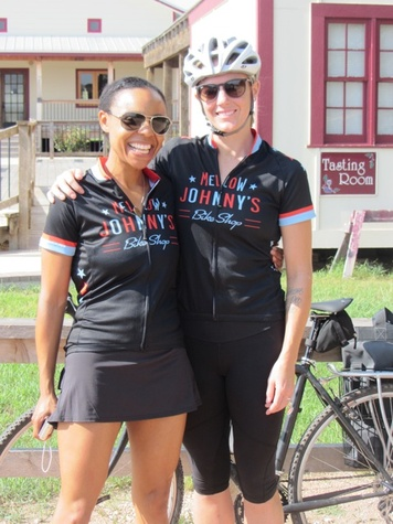 Ashely Hunter and Julie Doheney, Hill Country Bike and Wine Tour guides