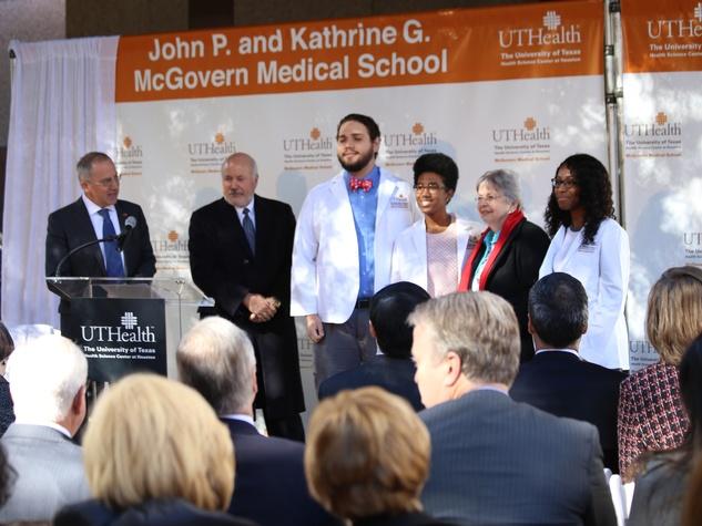News, Shelby, McGovern Medical School unveiling, Nov. 2015,  Kathrine McGovern